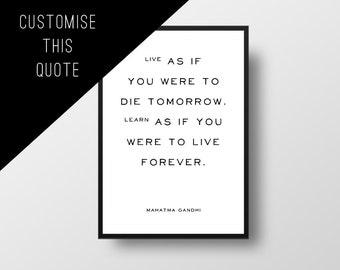 Custom Quote Poster, Vintage Style, Minimalist Poster, Custom poster, Personalised Print, Custom Art, Literary Custom, Custom Print