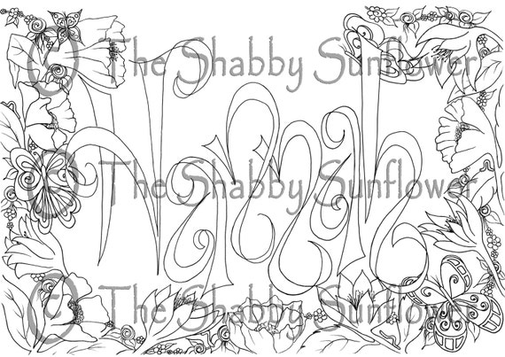 Coloring page girl 39 s name 39 Hannah 39