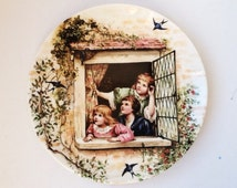 Vintage Collector's Plate, Our Swallows, Decorative Coalport Plate, 00177