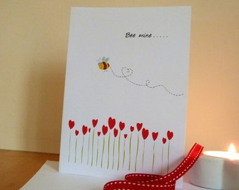 Valentines card/ Be mine card / Anniversary card/ love you card