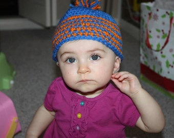 Crocheted baby gator hat