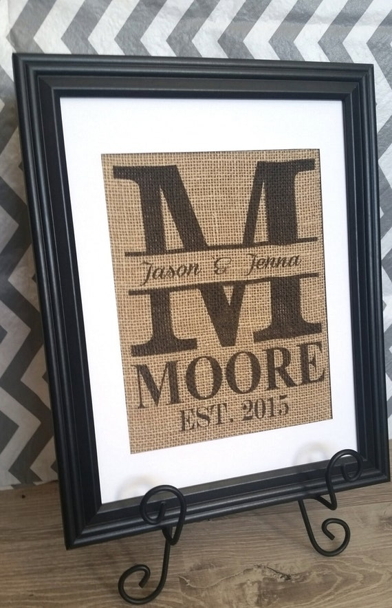 Wedding Gift Name Sign : Personalized Last name Wedding Gift - Wedding Sign, Bridal Shower Gift ...