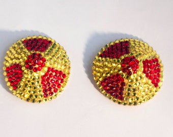 Rhinestone burlesque pasties radioactive symbol MADE TO ORDER