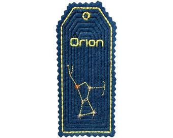 Felt Astronomy Bookmark - Orion - Blue
