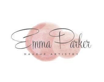 Pre-Designed Logo, Watercolor Logo, Makeup Artist logo, Abstract Logo, Wedding Planner Logo, Esthetician, Skin Care, Spa Logo