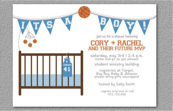 basketball baby shower invitation/printable basketball baby, Baby shower invitations
