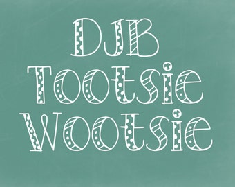 DJB Tootsie Wootsie Font (Single User Commercial License)