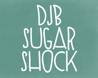 DJB Sugar Shock Font (Single User Commercial License)