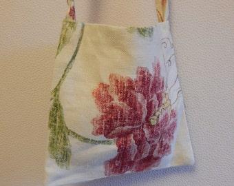 Handmade Little Floral Linen Shoulder Bag