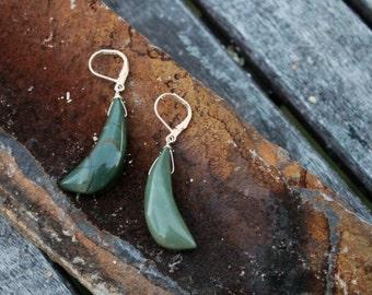 Holiday Sale! Elegant Picasso Jasper Stone Sterling Silver Earrings