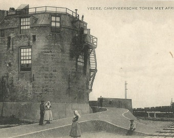Veere,  Netherlands  -  Campveersche Toren Met Afrit, Antique ca. 1915 Unused Postcard