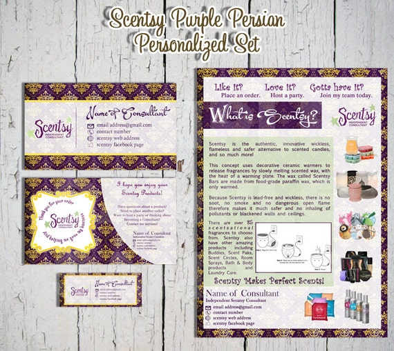 items similar to scentsy purple persian personalized. Black Bedroom Furniture Sets. Home Design Ideas
