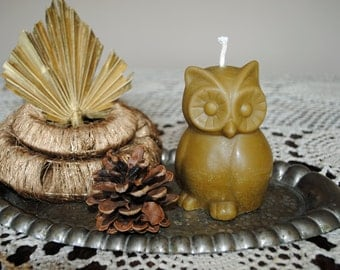 Beeswax Owl Candle - Xmas, Christmas Table Centre Piece - Owl Beeswax Candle