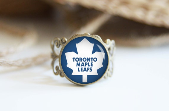 toronto maple leafs adjustable ring antique by