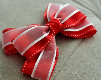 Winter Holiday Hair Bow