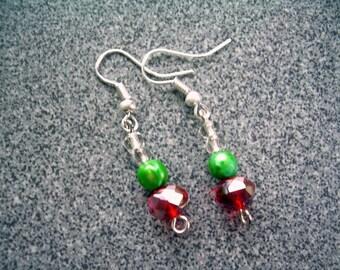Firemist Red Crystal Earrings