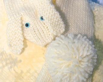 Soft warm bunny scarf, Baby Betty Bunny
