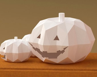 Halloween Jack-O'-Lantern 3D Paper Model Pattern
