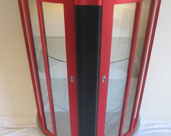 REDUCED***1940's Vintage Upcycled Automobilia Collector and Retail Display Cabinet