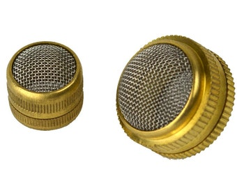 2 Pc Set Brass Jewelry Cleaning Baskets 16mm & 25mm Round Ultrasonic Non Magnetic Mesh Screen Parts Holder Screw Type CLNG-0007