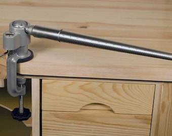 360 Degree Mandrel Vise Holder for Jewelry Forming Rings Bench Mounted Tool with Mandrel Included