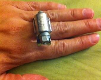 Steampunk metal ring - adjustable