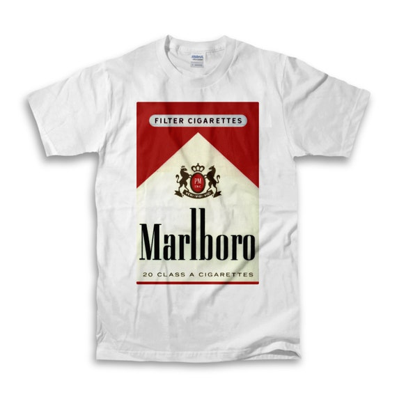 marlboro reds white t shirt on the hunt. Black Bedroom Furniture Sets. Home Design Ideas