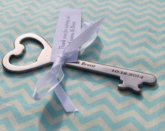 Personalized Key Bottle Opener Wedding Favor