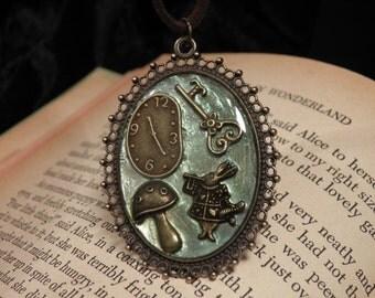 Alice in Wonderland Charms Necklace, Alice in Wonderland Necklace