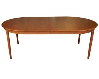 Danish Modern Extending Teak Dining Table