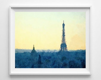Paris Watercolor Etsy