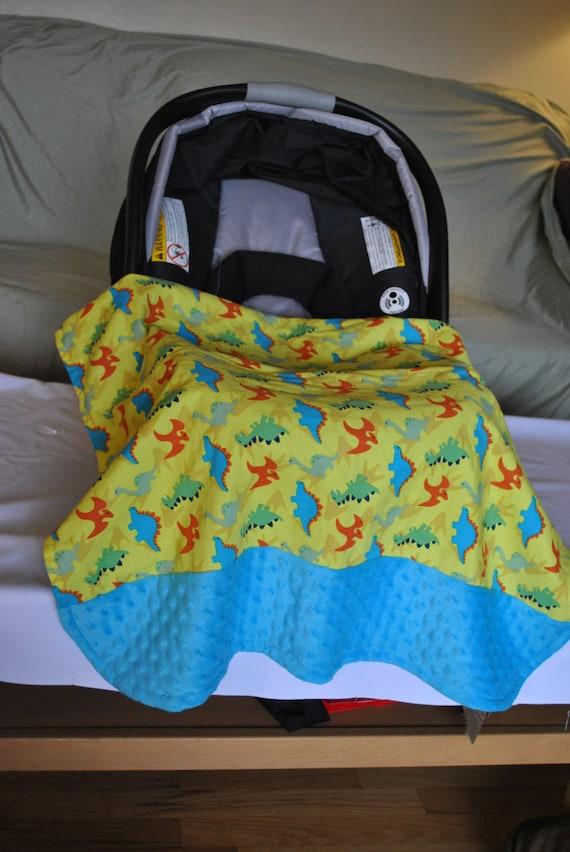 stroller car seat blanket dinosaurs. Black Bedroom Furniture Sets. Home Design Ideas