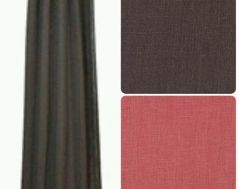 Linen Drapes, 34 color options, (SOLD IN PAIRS)