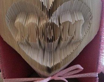 mom  in heart  book folding pattern