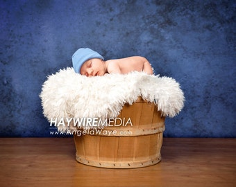 Newborn, Baby, Toddler, Child, Basket Photography Digital Backdrop Prop for Photographers with PNG Fur Coverup Layer