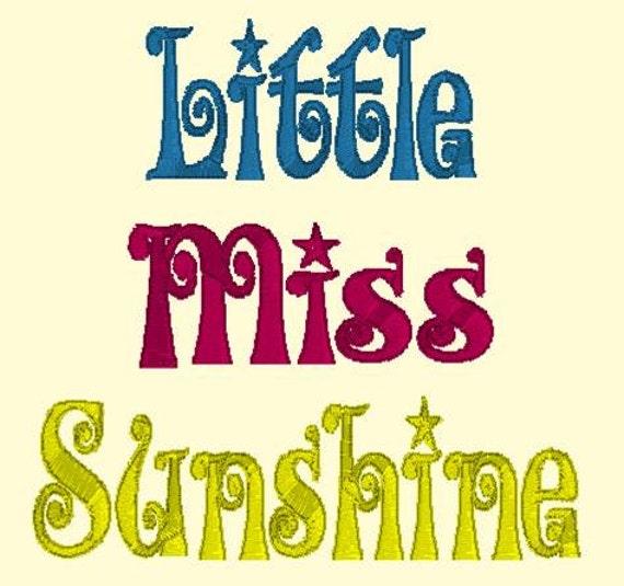 Little Miss Sunshine DOWNLOAD DIGITAL Design 4x4