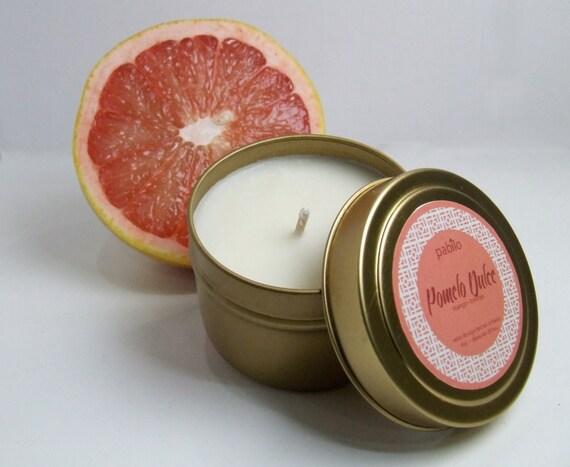Pomelo Dulce 4oz tin// Grapefruit Mango // Hand-Poured