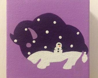 Buffalo Snow Painting