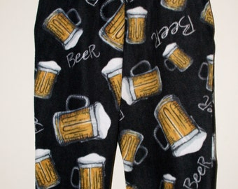 Beer fleece lounge pants