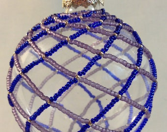 Blue and Purple Swirls Ornament