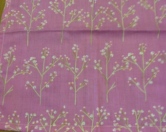 Eco-Friendly Cotton Dinner Napkins: Handcrafted Cotton Napkins in Cherry Blosom Tree Print