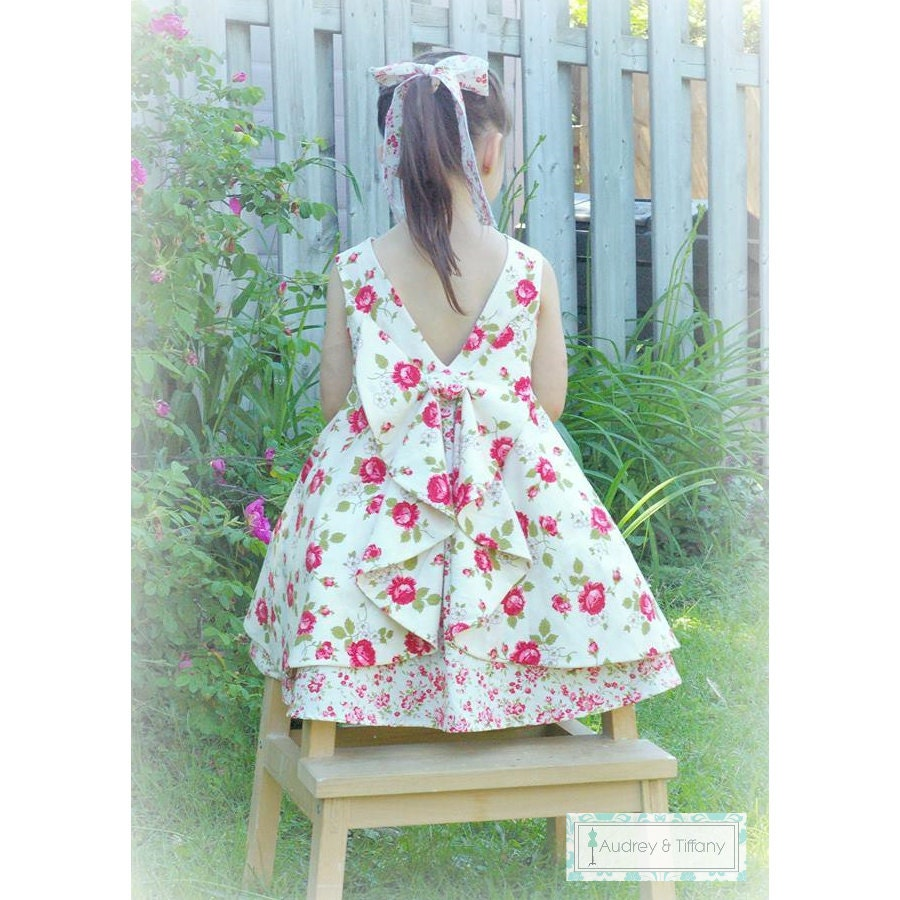 The Secret Garden Dress PDF Pattern Sizes 2 to 10