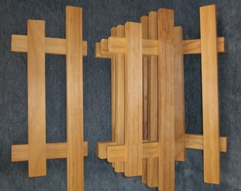 "5 wood fence ,3 1/2""x9"",vintage lot,craft supply"