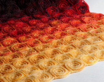Crochet Pattern Fire Blanket - Digital file PDF