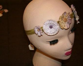 Vintage Inspired Flower Headband