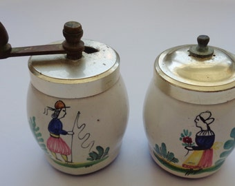 Vintage Signed Made In Italy Salt And Pepper Shakers