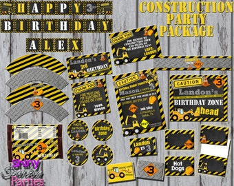 Construction Birthday Party - construction party - construction birthday - construction party pack - construction party printables DIY