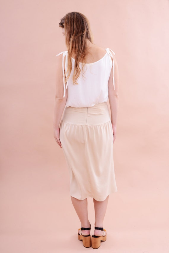 beige skirt sale 50 high waisted skirt tea by oaoastudio