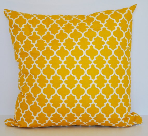 throw pillow cover mustard yellow eggshell lattice by. Black Bedroom Furniture Sets. Home Design Ideas