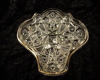 EAPG McKee Pres Cut Glass Serving Tray